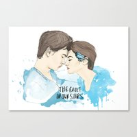 fault in our stars Canvas Prints featuring The Fault in Our Stars by Coconut Wishes