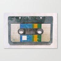cassette Canvas Prints featuring Cassette by Tapio Mömmö