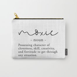 Moxie Definition - Minimalist Black Carry-All Pouch