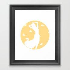 Daytime in Orange Framed Art Print