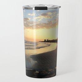 Sunset in Galveston Travel Mug