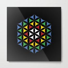 Rubix Flower Color Metal Print