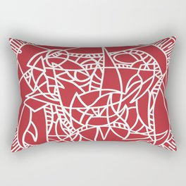 Bushel of Crabs (RED) Rectangular Pillow