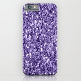 Ultra violet purple glitter sparkles iPhone Case