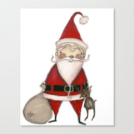 Ho Ho Ho - Santa art Canvas Print
