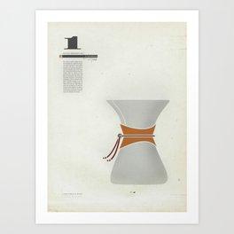 Coffee Contraption #1: Chemex Art Print