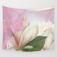 magnolia Wall Tapestries featuring magnolia by clemm