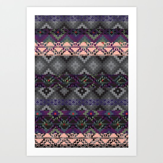 Russian style inspired Aztec Art Print