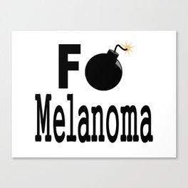 F Bomb Melanoma Canvas Print