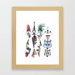 Mountian Wolves  Framed Art Print