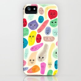 Colored Faces iPhone Case