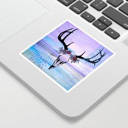 SkullandFlowerCrown Sticker