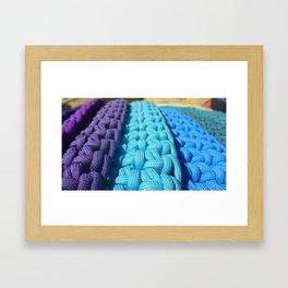 Rainbow Paracord Art Framed Art Print