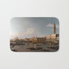 The Basin of San Marco on Ascension Day by Canaletto Bath Mat