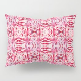 Summer Vibes Tie Dye in Red Peppermint Pillow Sham