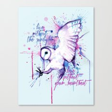 Live Without The Sunlight Owl Canvas Print