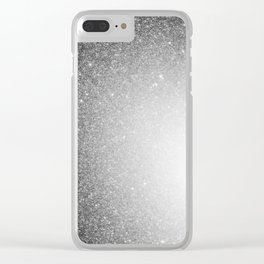 Galaxy Stars Ombre : Black Slate Gray Clear iPhone Case