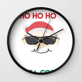 Christmas - I've got Ho Ho Ho's In Different Area Codes (Dark) Wall Clock