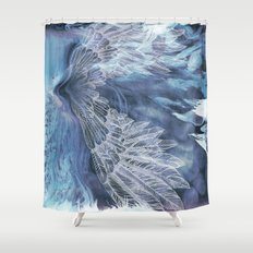 on wings Shower Curtain