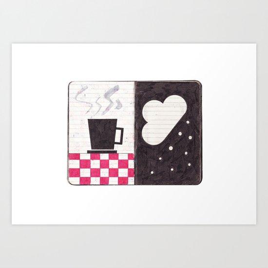 Coffee & Snow Art Print