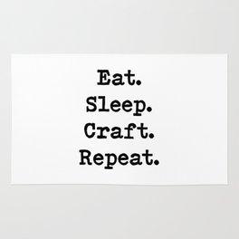 Eat. Sleep. Craft. Repeat. Rug