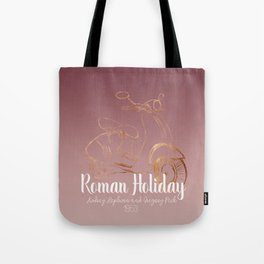 Roman holiday - Audrey Hepburn and Gregory Peck tribute to Tote Bag