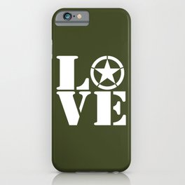 Army Love iPhone Case