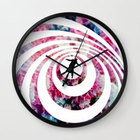 vertigo Wall Clocks featuring VERTIGO by Tia Hank