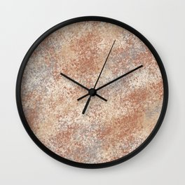 Cavern Clay SW 7701 and Abstract Distressed Chaotic Sponge Paint Pattern 2 Wall Clock