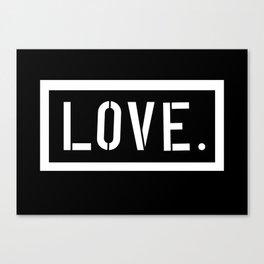 Love Stencil Canvas Print