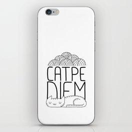 CATPE DIEM iPhone Skin