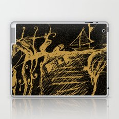 Black Yellow World - Abstract Love - Valentine Laptop & iPad Skin