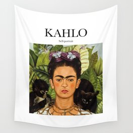 Kahlo - Self-portrait Wall Tapestry