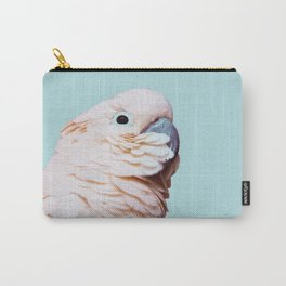 Parrot Photography | Pink Bird |  Tropical | Exotic | Turquoise Art | Blush Pink Carry-All Pouch