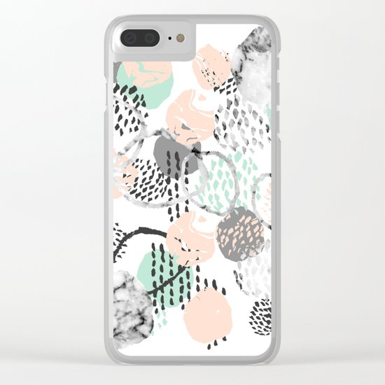 Brice - abstract minimal modern painting home decor minimalist art Clear iPhone Case