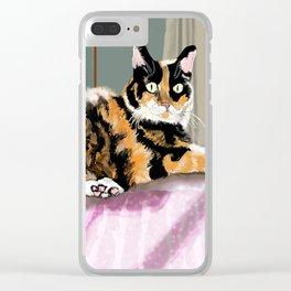 Cali Q Kitten Clear iPhone Case