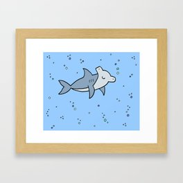 Little Hammerhead shark Framed Art Print