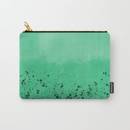 Abstract speckled background - green Carry-All Pouch