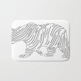 Grizzly Bear Art Bath Mat