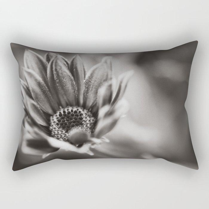 Flower in Black and White Rectangular Pillow