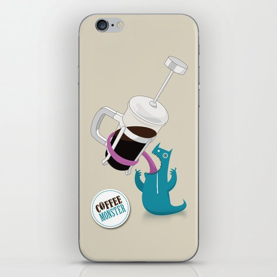 Coffee Monster iPhone & iPod Skin