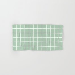 Minimalism Window Pane Grid, Sage Green Hand & Bath Towel