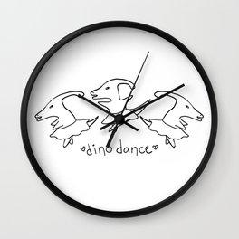 Dino Dance Wall Clock