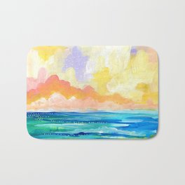 Abstract Seascape I Bath Mat