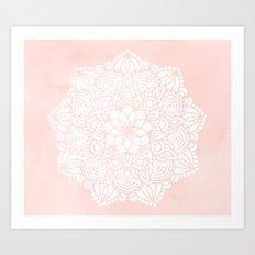 Mandala Mermaid Sea Pink by Nature Magick Art Print