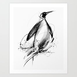 Pingüino Art Print