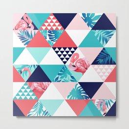 seamless pink flamingo pattern Metal Print
