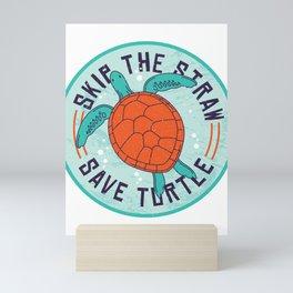Save the Turtles T-Shirt Mini Art Print