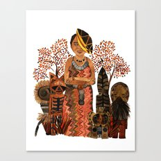The Visiting Preistess Canvas Print