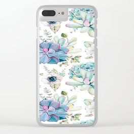 FLORAL PATTERN1 Clear iPhone Case